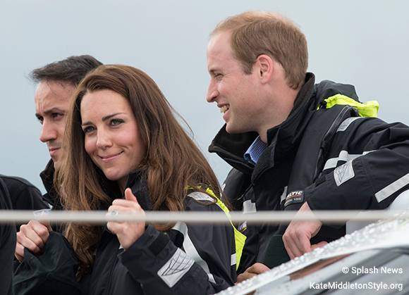 Kate gives a thumbs up after her win