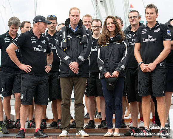 Kate Middleton wearing Musto BR1 Channel sailing jacket