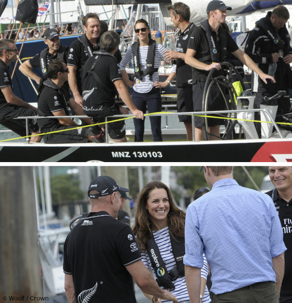 Kate beaming after winning the Yacht race