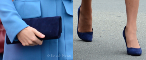 Kate's blue accessories