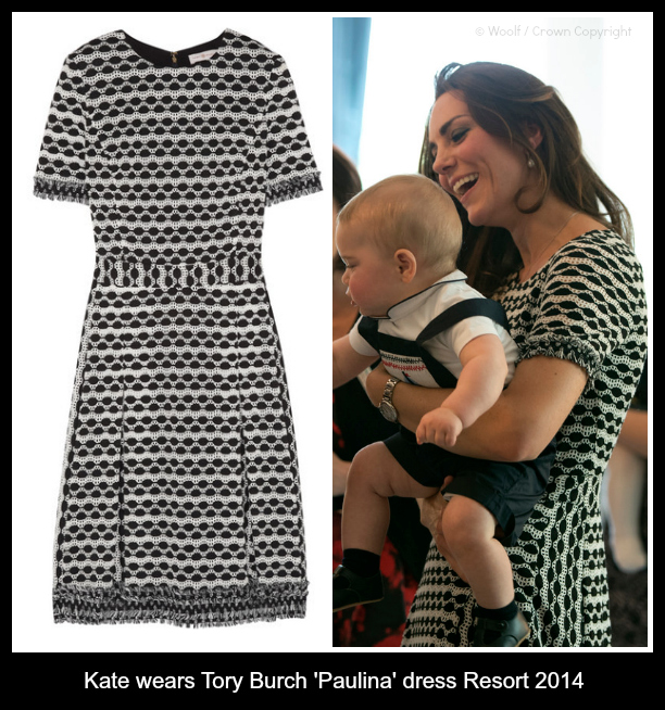 Kate wore this Tory Burch Paulina dress in New Zealand today