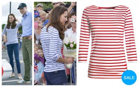 Kate's ME + EM Breton stripe top is now on sale in red
