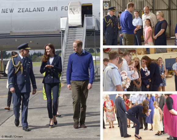 William and Kate chat to families at the Air Force base