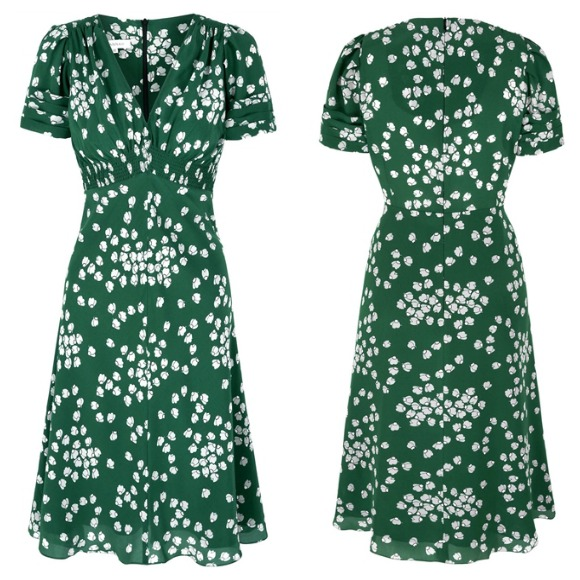 Green Silk Tea Dress by Susannah