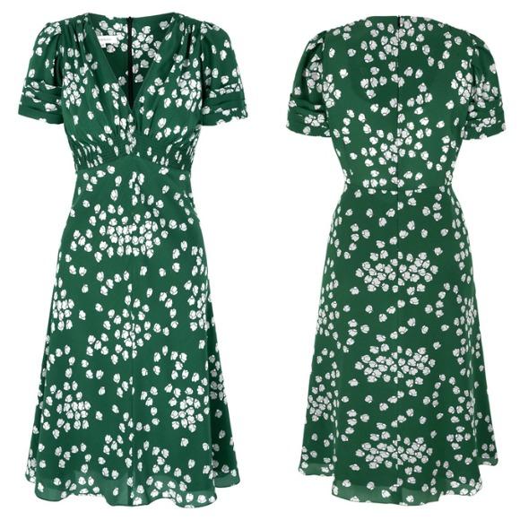 Green Silk Tea Dress by Susannah