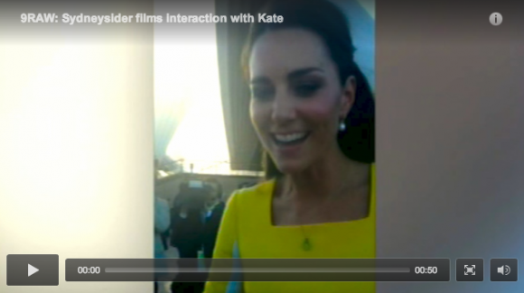 Video of Kate in Sydney