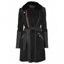Temperley Odele Sheepskin Jacket in black