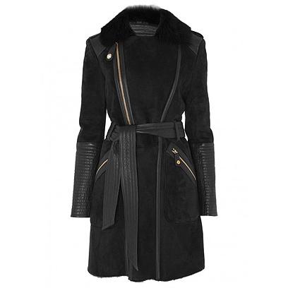 Temperley Odele Sheepskin Jacket in black