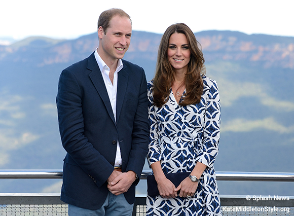 The Duke and Duchess of Cambridge visit Echo Point, Katoomba and view the Three Sisters rock formation as part of their tour of New Zealand and Australia