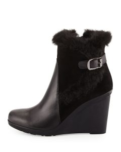 Aquatalia Natalie Wedge Booties