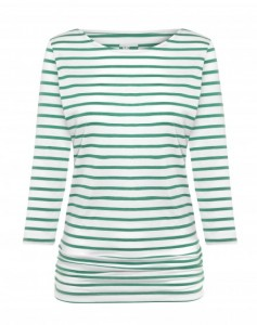 ME + EM BRETON TOP IN EMERALD GREEN
