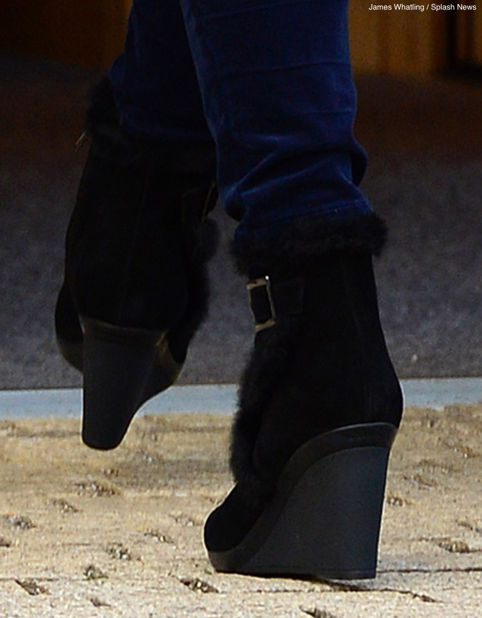 Kate Middleton wearing the Aquatalia Ankle boots