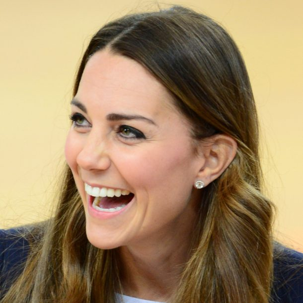 "Kate Middleton wearing the Kiki McDonough ""Grace"" earrings"