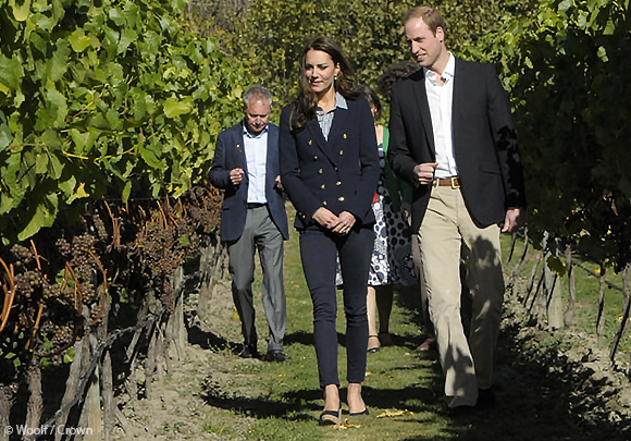 Kate and William tour the vineyard
