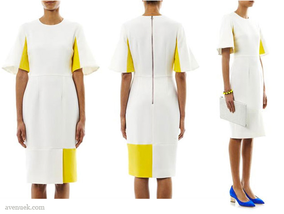 kate is wearing this Roksanda Ilincic Ryedale dress in yellow