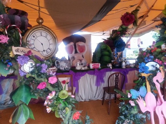 The Mad Hatter's Tea Party Set Up, Photo courtesy of Rainbow Palace's Facebook page.