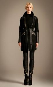 Odele Sheepskin Coat in Black