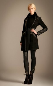 Odele Sheepskin Coat in Black