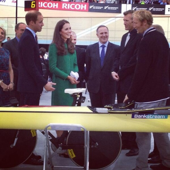 Royal couple meet olympians and paralympians at the Avantidrome.  Photo courtesy of Governor-General of NZ @GovGeneralNZ