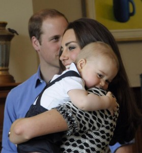 Prince George looks sleepy after his playdate. © Governor-General of New Zealand/Government House