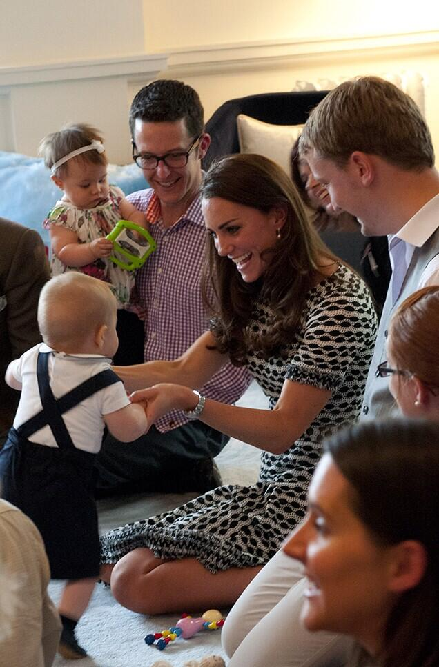 Prince George and Kate at the event for Plunket