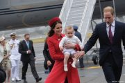 William, Kate and George land in New Zealand