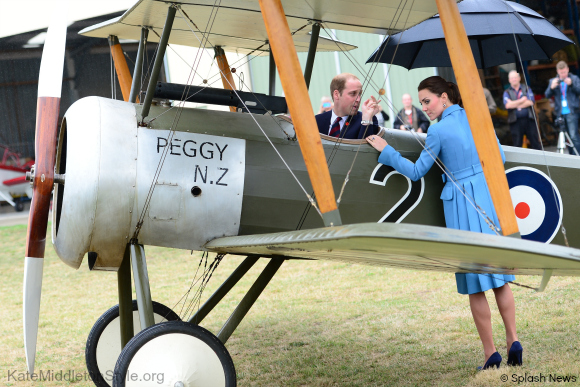 William and Kate tour the aviation centre in New Zealand