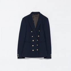 Zara double breasted military blazer