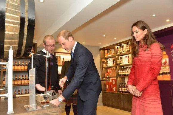 William and Kate at the Famous Grouse Experience