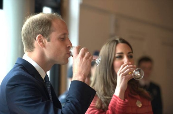 William and Kate sampled the company's whiskey