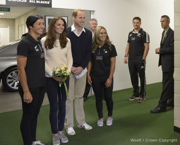 Kate Middleton wearing the Mint Velvet Bibi plimsoll during the tour of Australia