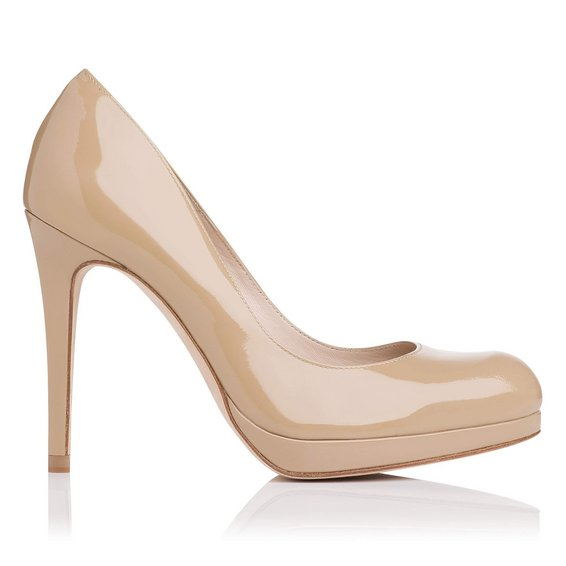 L.K. Bennett Sledge Patent Leather Platform Court Shoe