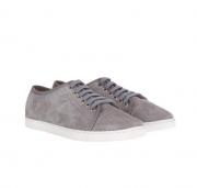 grey Mint Velvet taupe suede pimsolls
