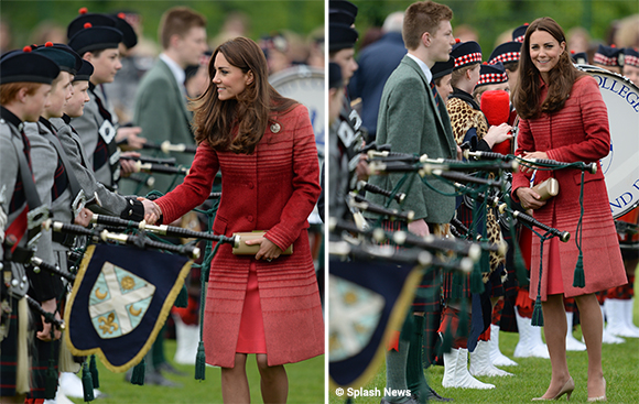 Kate during her visit to Scotland