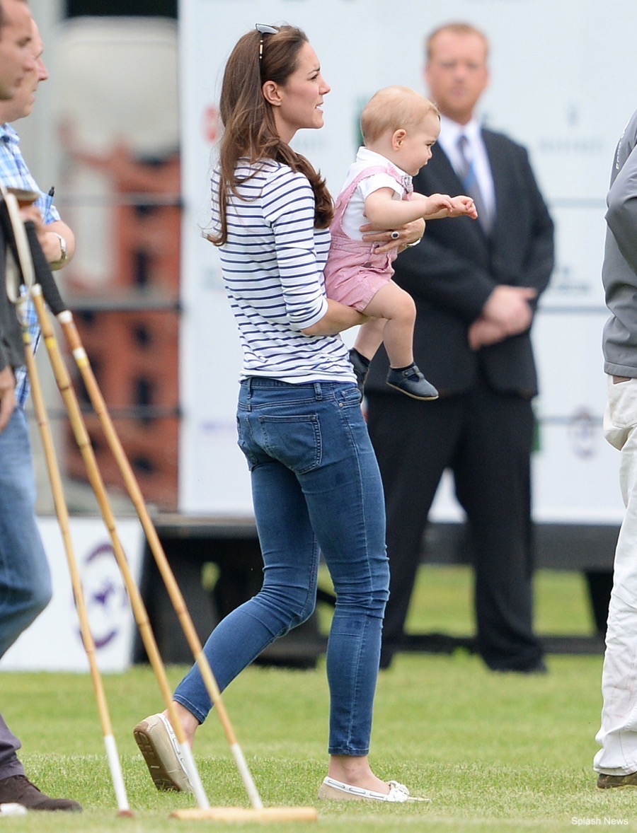 Kate Middleton with Prince George at the Polo