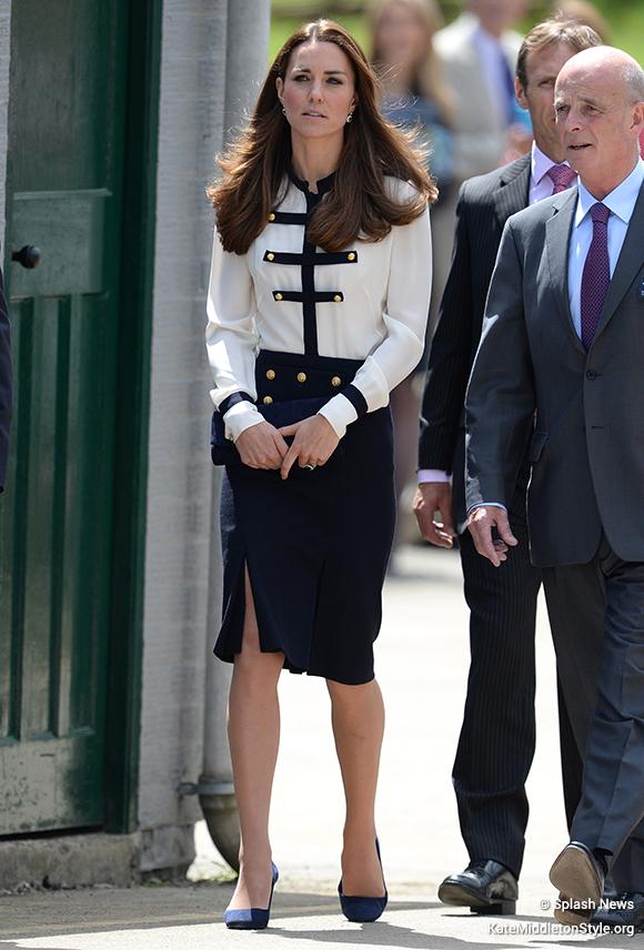 Kate Middleton visits Bletchley Park