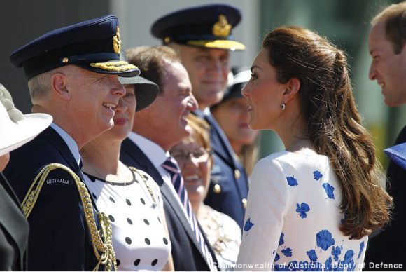 Kate Middleton wearing the LK Bennett Lasa dress in Australia