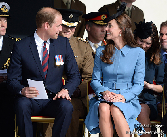 Kate and William at the service on Gold Beach