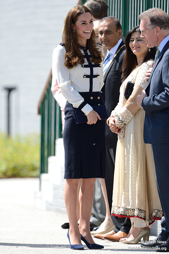 Kate Middleton at Bletchley Park in Milton Keynes
