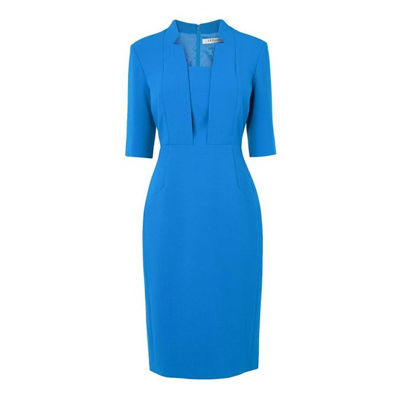 LK Bennett Detroit Dress In Blue Kate Middleton Style Blog
