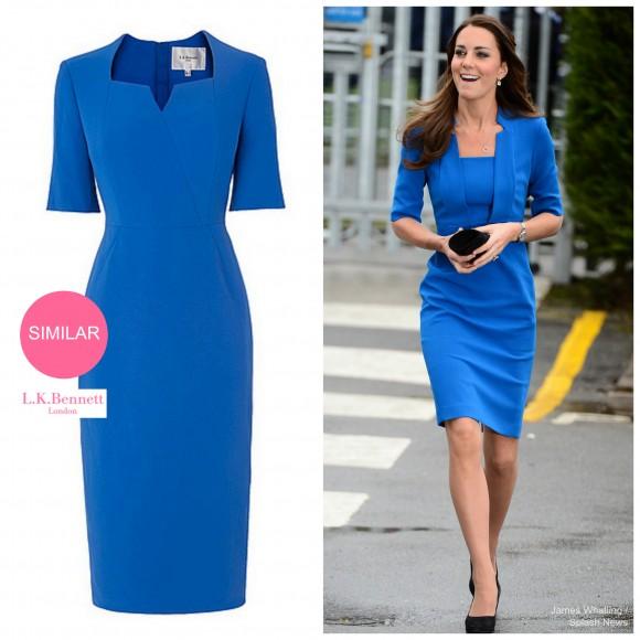 """LK Bennett sell this similar dress to Kate's """"Detroit"""" dress"""