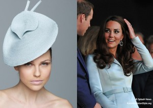 Kate attends Garter Day in blue Christopher Kane coat dress