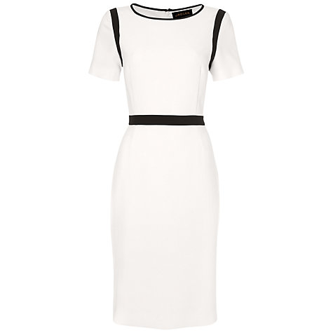 jaeger white crepe dress