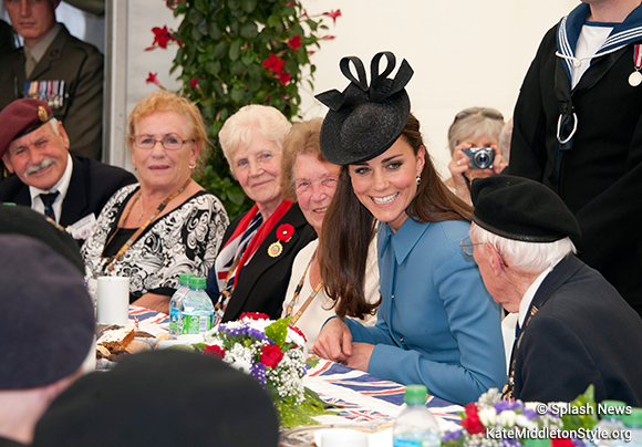 Kate sat with veterans during the 'tea party'