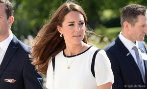 Kate wears elegant white Jaeger dress for America's cup event at the National Maritime Museum