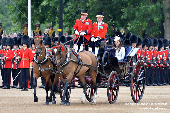 Kate at Trooping the Colour 2014