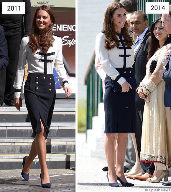 Kate in Alexander McQueen 2011 & 2014