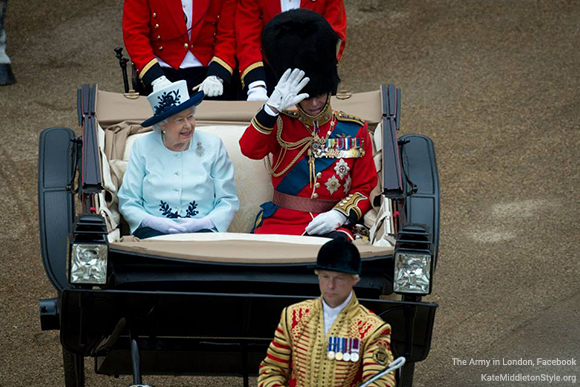 The Queen at the Trooping the Colour ceremony