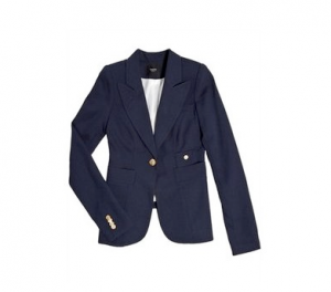 Smythe Navy One Button Blazer