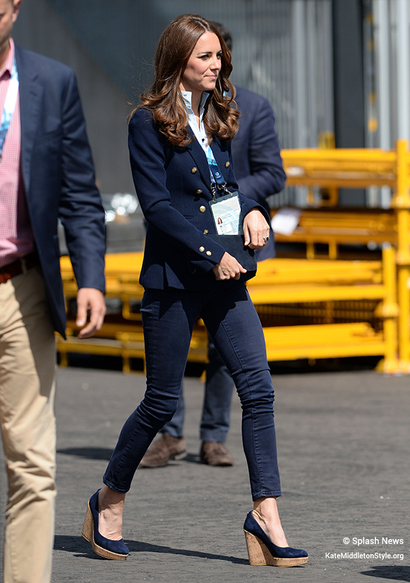 Kate in her blue blazer at the commonwealth games